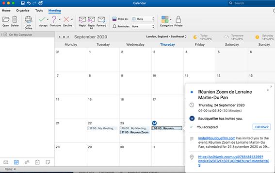 Meeting Calendar invitees