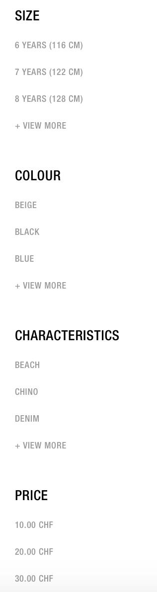 catégorie filtre