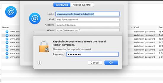 introduire le mot de passe