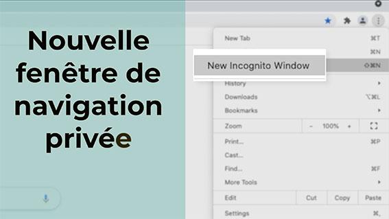 Nouvelle fenêtre de navigation privée