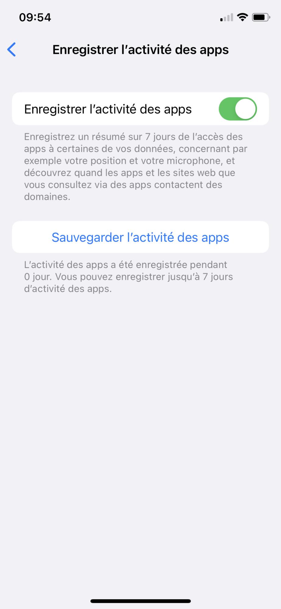 Enregistrer l'activité des apps.